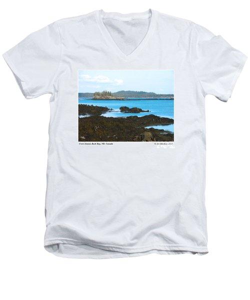 Crow Island Bay Of Fundy Nb Men's V-Neck T-Shirt