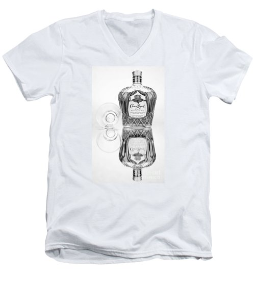 Crown Royal Black And White Men's V-Neck T-Shirt