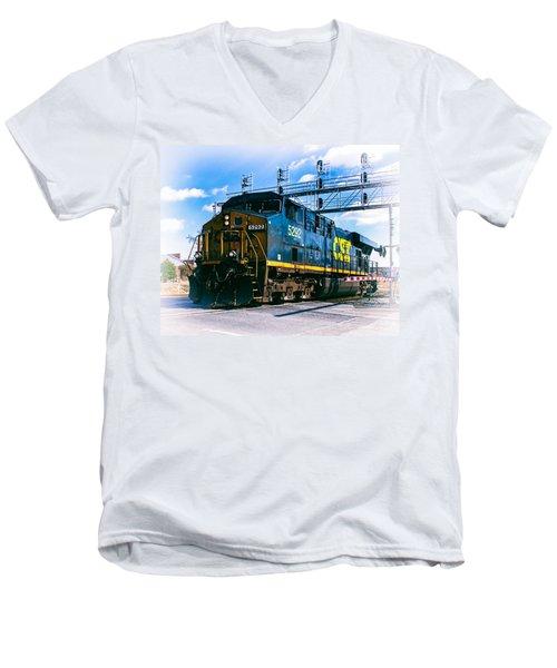 Csx 5292 Warner Street Crossing Men's V-Neck T-Shirt