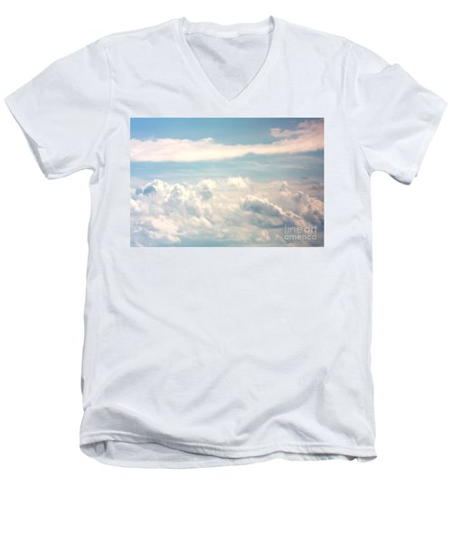 Cumulus Clouds Men's V-Neck T-Shirt