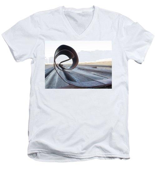 Curled Steel Men's V-Neck T-Shirt
