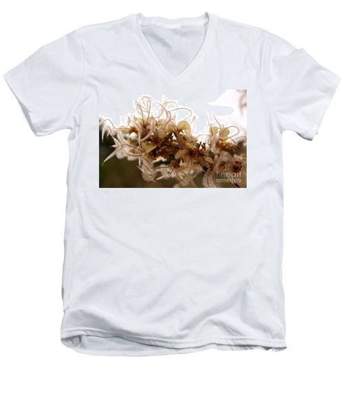 Curlleaf Mountain Mahogany Men's V-Neck T-Shirt