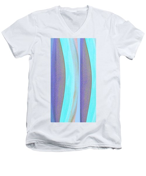 Men's V-Neck T-Shirt featuring the painting Curves2 by Stephanie Grant