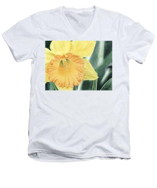 Daffodil Dayz Men's V-Neck T-Shirt