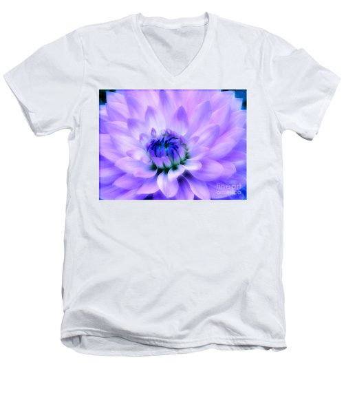 Dahlia Dream Men's V-Neck T-Shirt