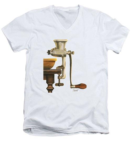 Daily Grind Men's V-Neck T-Shirt by Ferrel Cordle