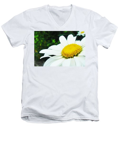 Men's V-Neck T-Shirt featuring the photograph Daisy Daisy by Tiffany Erdman