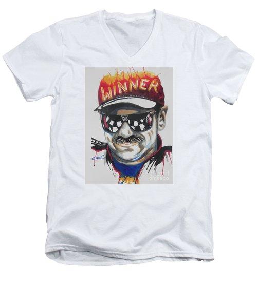 Dale Earnhardt Sr Men's V-Neck T-Shirt by Chrisann Ellis