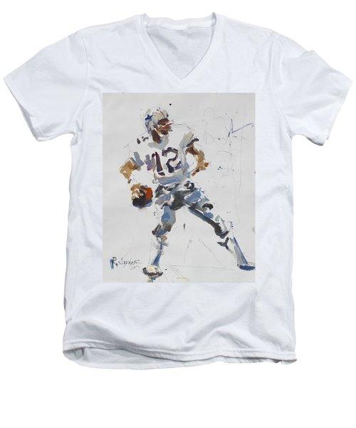 Dallas Cowboys - Roger Staubach Men's V-Neck T-Shirt