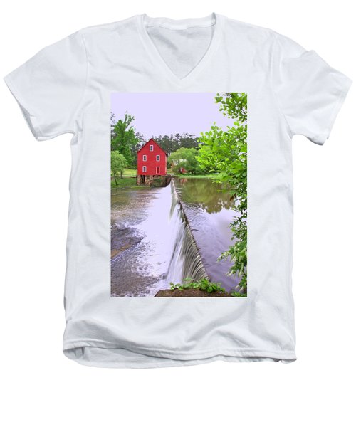 Dam At Starrs Mill Men's V-Neck T-Shirt