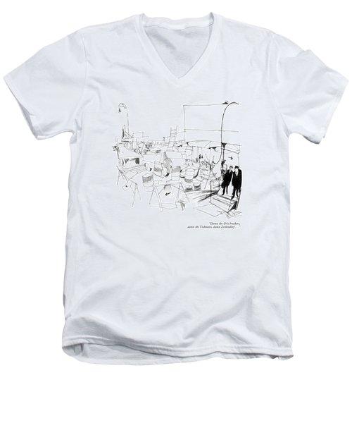 Damn The Uris Brothers Men's V-Neck T-Shirt