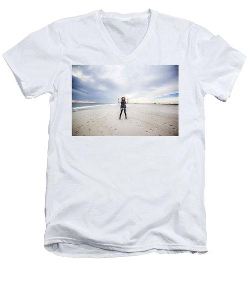 Dance At The Beach Men's V-Neck T-Shirt