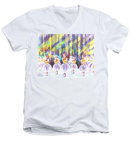Dancers In The Forest Men's V-Neck T-Shirt by Kip DeVore
