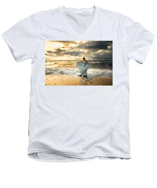 Dancing In The Surf Men's V-Neck T-Shirt