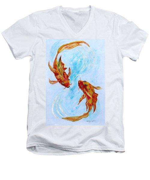 Dancing Koi Sold Men's V-Neck T-Shirt