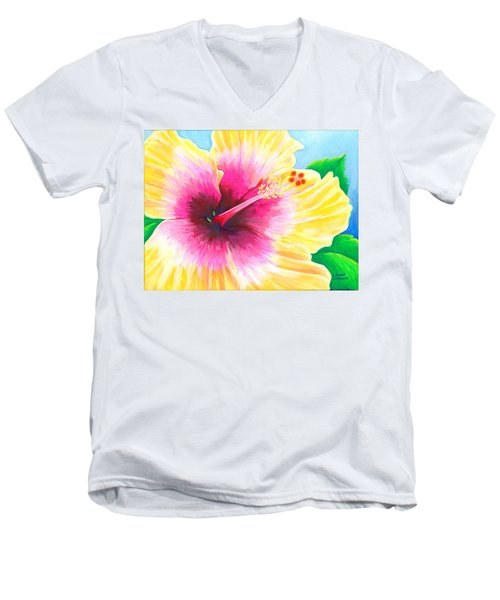 Dan's Hibiscus Men's V-Neck T-Shirt