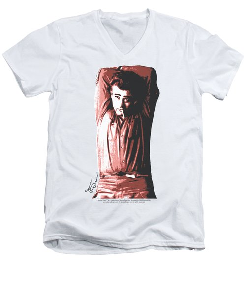 Dean - Crossed Men's V-Neck T-Shirt by Brand A