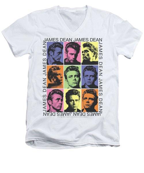 Dean - James Color Block Men's V-Neck T-Shirt