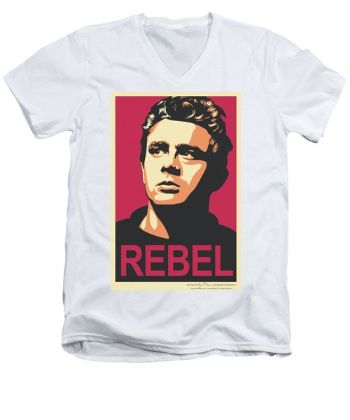 Dean - Rebel Campaign Men's V-Neck T-Shirt by Brand A