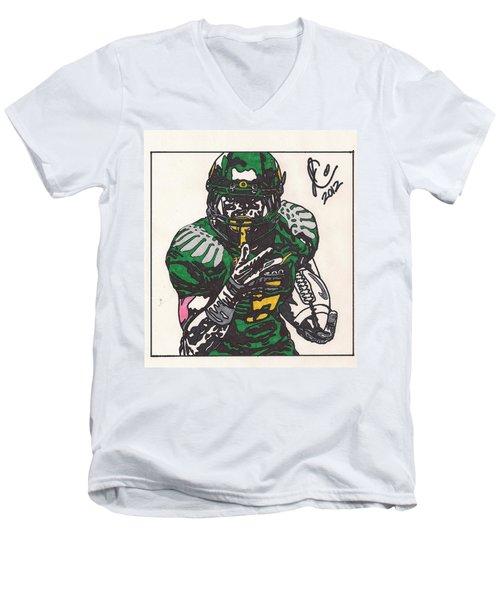De'anthony Thomas Men's V-Neck T-Shirt by Jeremiah Colley