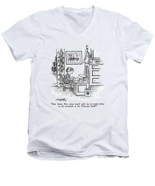 Dear Santa: How About Lunch Men's V-Neck T-Shirt
