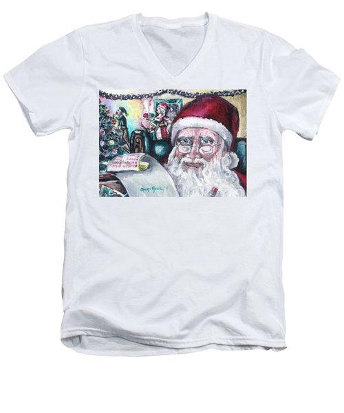 December Men's V-Neck T-Shirt by Shana Rowe Jackson