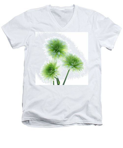 Deep In The Roots All Flowers Keep The Light Men's V-Neck T-Shirt