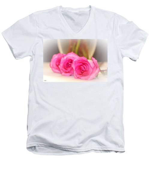 Delicate In Pink  Men's V-Neck T-Shirt