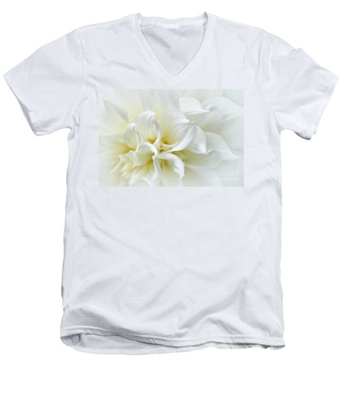 Delicate White Softness Men's V-Neck T-Shirt