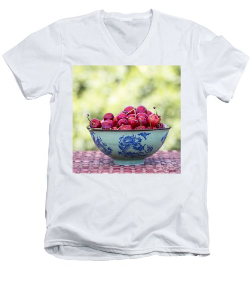 Men's V-Neck T-Shirt featuring the photograph Delicious by Linda Lees