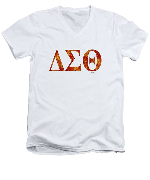 Delta Sigma Theta - White Men's V-Neck T-Shirt by Stephen Younts