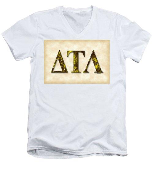 Delta Tau Lambda - Parchment Men's V-Neck T-Shirt by Stephen Younts