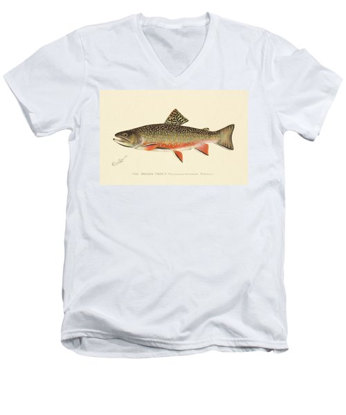 Denton Brook Trout Men's V-Neck T-Shirt