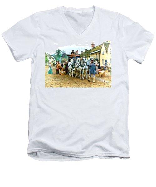 Departing Cranford Men's V-Neck T-Shirt