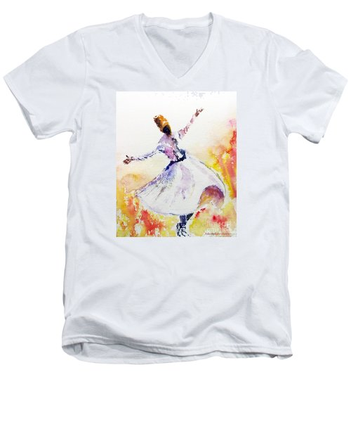 Sufi  Or Dervish Dancer Men's V-Neck T-Shirt