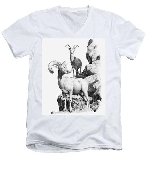 Desert Bighorns Men's V-Neck T-Shirt