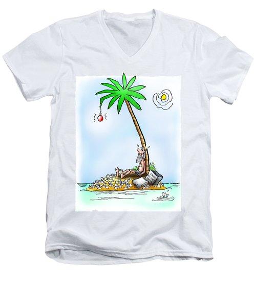 Desert Island Christmas Men's V-Neck T-Shirt