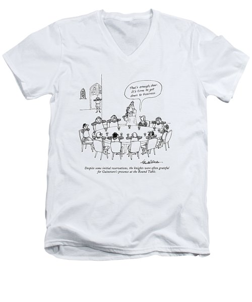Despite Some Initial Reservations Men's V-Neck T-Shirt