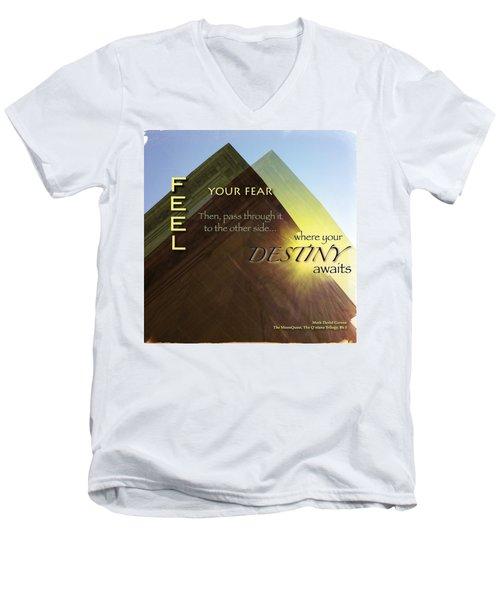 Your Destiny Waits Men's V-Neck T-Shirt by Mark David Gerson