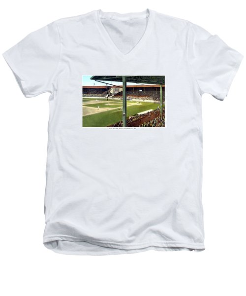 Detroit - Navin Field - Detroit Tigers - Michigan And Trumbull Avenues - 1914 Men's V-Neck T-Shirt