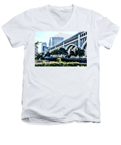 Detroit-superior Bridge - Cleveland Ohio - 1 Men's V-Neck T-Shirt