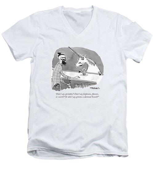 Did I Say Sprinkles? Did I Say Foofaraw Men's V-Neck T-Shirt