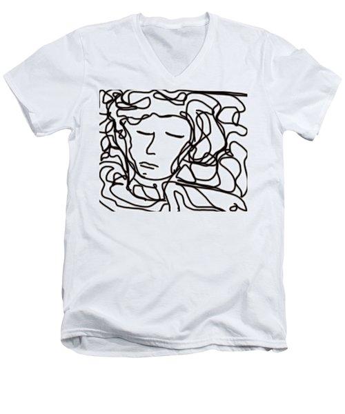 Digital Doodle Men's V-Neck T-Shirt