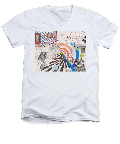 Dimension  Men's V-Neck T-Shirt