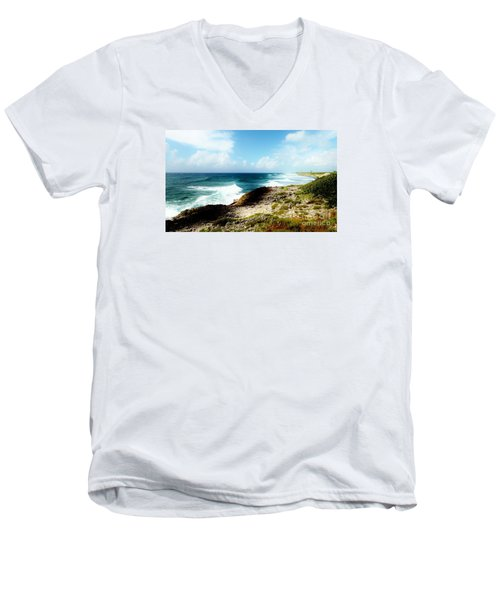 Diorama Men's V-Neck T-Shirt by Amar Sheow