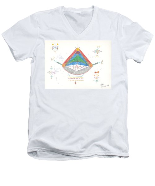 Divine Balance Men's V-Neck T-Shirt by Mark David Gerson