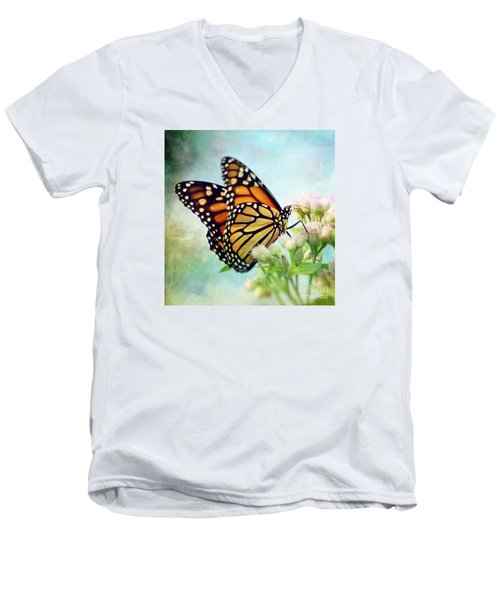 Men's V-Neck T-Shirt featuring the photograph Divine Things by Kerri Farley
