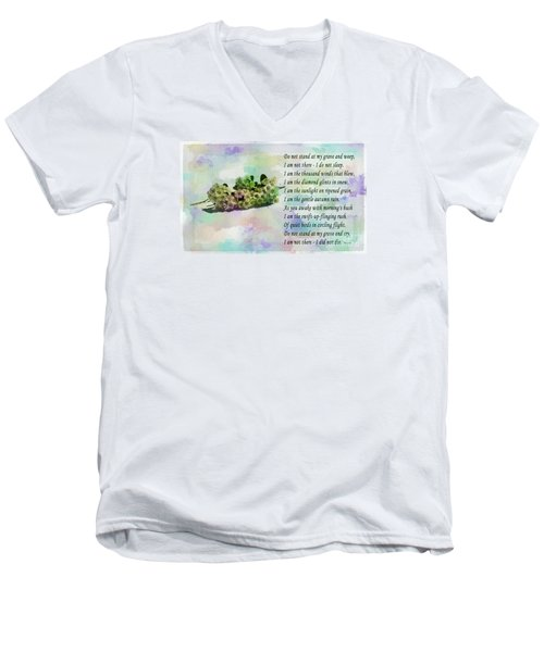 Do Not Stand At My Grave And Weep Men's V-Neck T-Shirt by Barbara Griffin