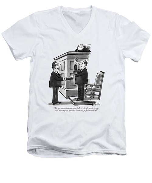 Do You Solemnly Swear To Tell The Truth Men's V-Neck T-Shirt