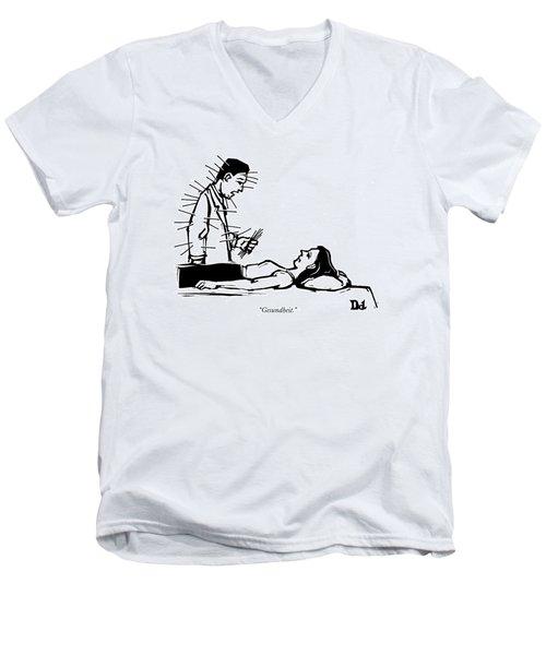 Doctor Has Many Needles Stuck Men's V-Neck T-Shirt